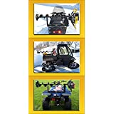 Digger Ice Auger Mount For ATV, Snowmobile, UTV, Fits Metal Rack, Bumper & Polaris Composite Rack