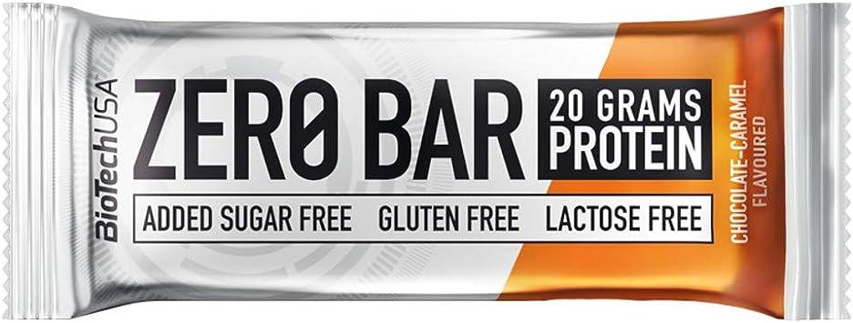BioTech USA - Zero Bar, 10 x 50g Chocolate-Caramelo: Amazon ...