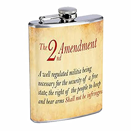 065898b16a9e Image Unavailable. Image not available for. Color  2nd Amendment Flask ...