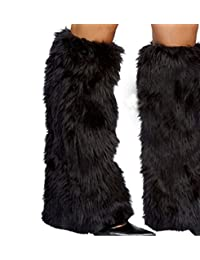 Unigds 3Color Sexy Faux Fur Leg Warmers Rave Fluffies Lady Boot Cover Santa Christmas