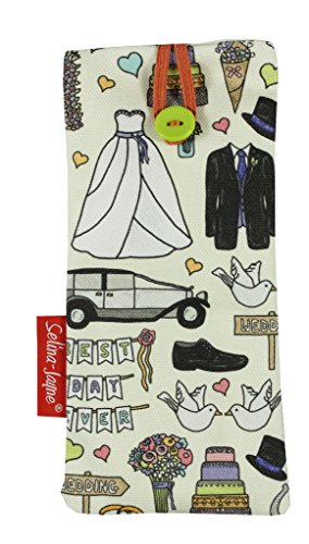 Selina-Jayne Wedding Day Limited Edition Designer Soft Fabric Glasses Case by Selina-Jayne