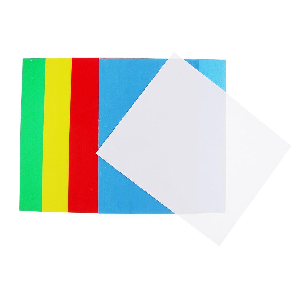 Sharplace 5pcs Fogli Di Carta Da Traccia Colorati Su Misura Per La Realizzazione Di Modelli Di Artigianato Di Disegno