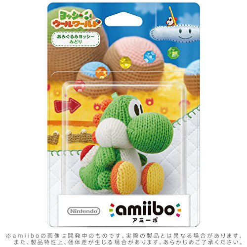 Green Yarn Yoshi amiibo - Japan Import (Yoshi's Woolly World Series) by Nintendo (Image #1)