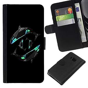 All Phone Most Case / Oferta Especial Cáscara Funda de cuero Monedero Cubierta de proteccion Caso / Wallet Case for HTC One M9 // Yin Yang Orca Whales