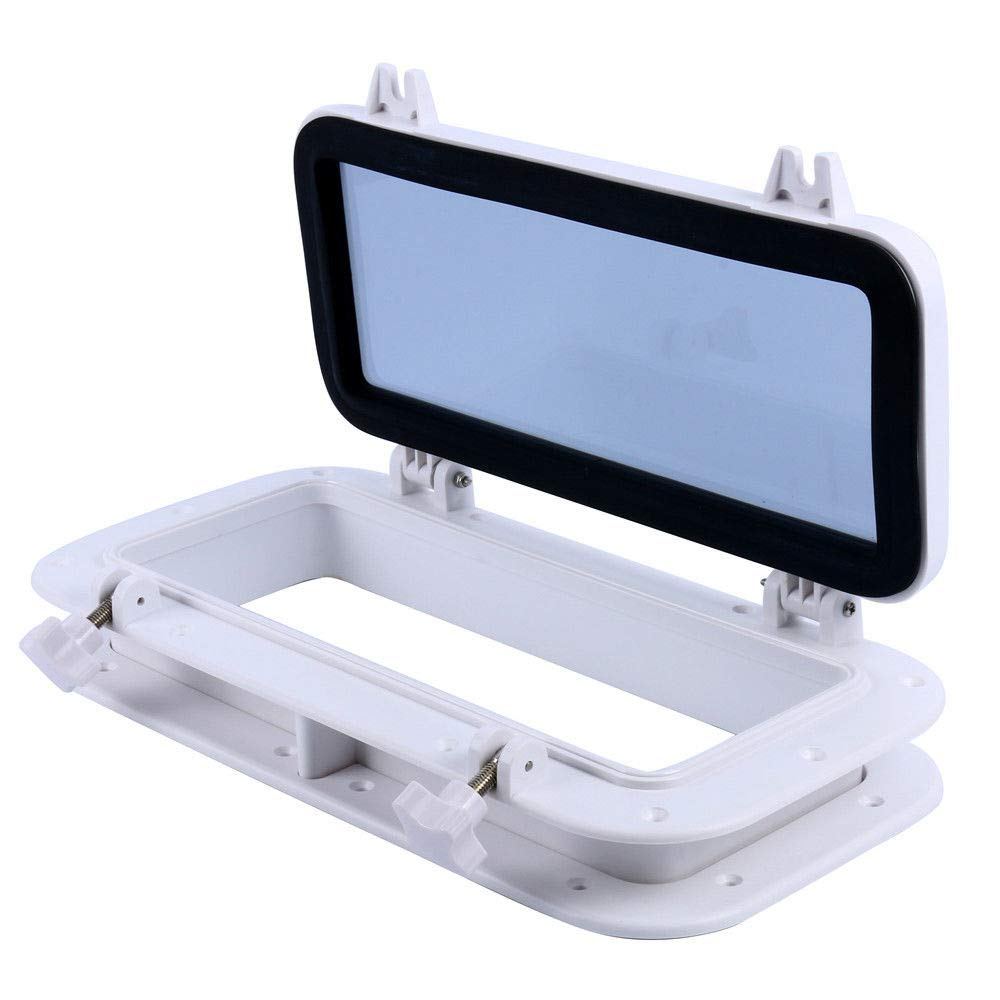 MB-Sportstar ABS 16'' X 8'' Rectangle Opening Boat Yatch Window Port Portlight Porthole - White by MB-Sportstar