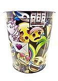 emoji Wastebasket,Colorful, Tin
