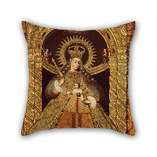16 X 16 Inches / 40 By 40 Cm Oil Painting Bolivia - Virgin Of The Victory Of Malaga Throw Pillow Covers ,both Sides Ornament And Gift To Outdoor,car Seat,him,husband,dining Room,floor