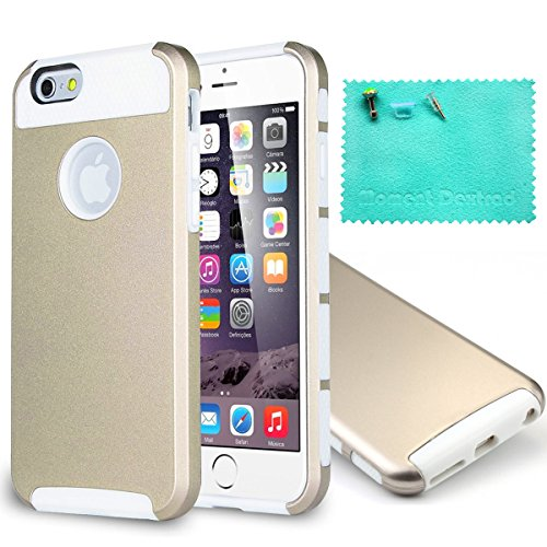 iPhone 6 Case,iPhone 6S Case,Moment Dextrad [Perfect Fit][Slim Fit]  Dual-Layer Protective Cover for iPhone 6/6S 4.7 inch{Three Months  Warranty}(Gold/white)