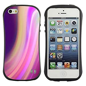 LASTONE PHONE CASE / Suave Silicona Caso Carcasa de Caucho Funda para Apple Iphone 5 / 5S / swirl motion purple lights blur colorful