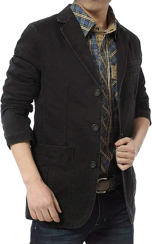 Sylar Abrigos Hombre de Vestir Invierno Chaqueta de Blazer Manga Larga para Hombre Color Sólido Chaquetas de Traje Slim Fit Blazer Hombre Chaqueta Blazer Casual con Botón