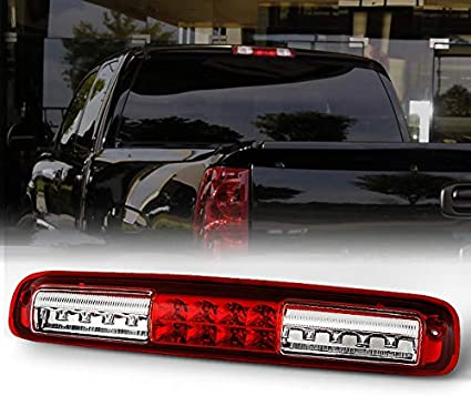 3rd Black Clear LED Third Brake Light Cargo Function for 07-13 Silverado//Sierra