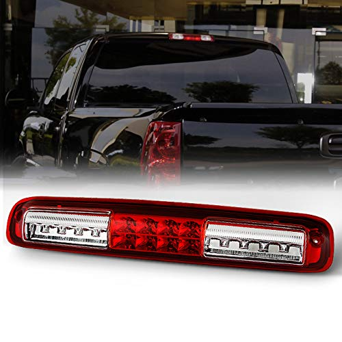 AKKON For Chevrolet Silverado GMC Sierra Replacement LED 3rd Brake Light Signal Third Cargo Stop Lamp Red ()
