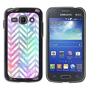 YOYOYO Smartphone Protección Defender Duro Negro Funda Imagen Diseño Carcasa Tapa Case Skin Cover Para Samsung Galaxy Ace 3 GT-S7270 GT-S7275 GT-S7272 - modelo del galón blanco iridiscente púrpura