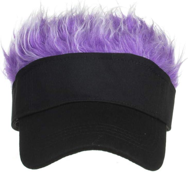 Gorra de Beisbol Ventilador Color sólido Falso Estilo Pelo Snapback Sombreros Peluca de tupé para niños Unisex FunCool Gorra de béisbol de Camuflaje