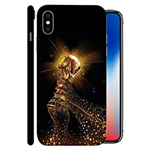 ColorKing Apple iphone X Football Black Case shell cover - Fifa Cup 18