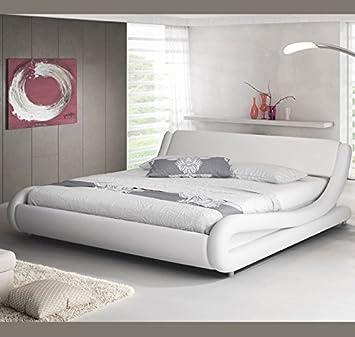 muebles bonitos cama de matrimonio de diseo alessia en color blanco 120 x 190 cm
