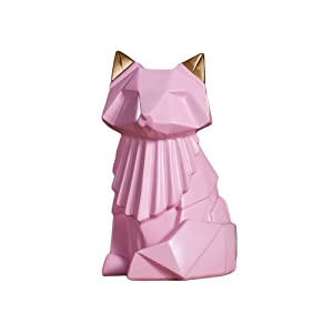 Colias Wing Home Decor Adorable Fox Shape Stylish Design Coin Bank Money Saving Bank Toy Bank Cents Penny Piggy Bank (Pink)