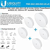 Ubiquiti  PowerBeam ac ISO 300 High-Performance airMAX ac 5GHz Bridge with RF Isolated Reflector (PBE-5AC-300-ISO-US-5) [5-Pack]