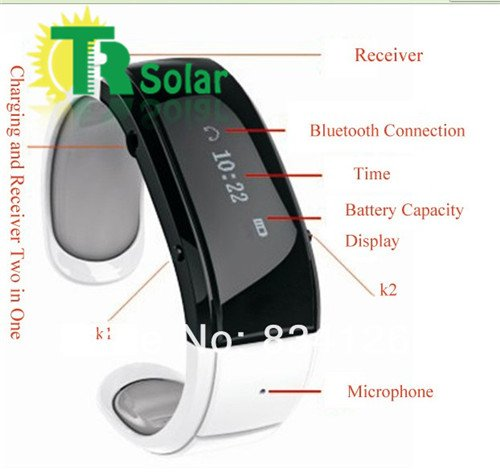 Wireless bluetooth smart hand ring Vibration Anti-lost Alarm Bluetooth Mobile-White For Sale