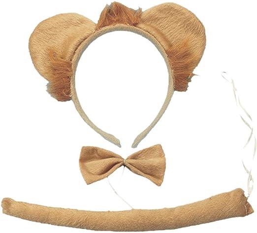 STOBOK 3 piezas orejas de león y cola set orejas de gato diadema ...