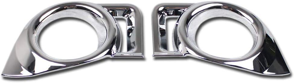 Fit For Toyota Highlander 2015 2016 Chrome Front Fog Light Lamp Frame Cover Trim