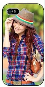 iPhone 6+ Plus Smiling girl - black plastic case, hot girl, girls by SHURELOCK TM