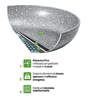 Bialetti Y0C6PG0200 Petravera Madame Marmite Polenta/Aluminium Gris 35 x 20,5 x 14,8 cm