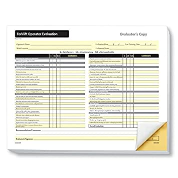 Complyright Forklift Operator Evaluation Form AmazonCoUk Office