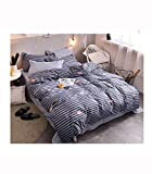 HHXQXB Bed Linen Hypoallergenic Bedding Set Fine Fabric Bedding Set with Year Round Duvet Zipper Bed Cover150 X 200 cm + Bed Sheet 200x230 cm, 2 Pillow Cover48x74cm
