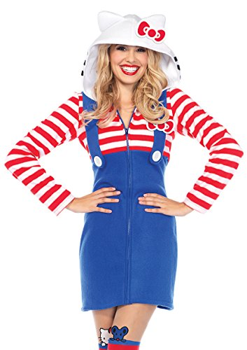 Hello Kitty Halloween Costume For Adults (Leg Avenue womens Hello Kitty Cozy Costume Large)