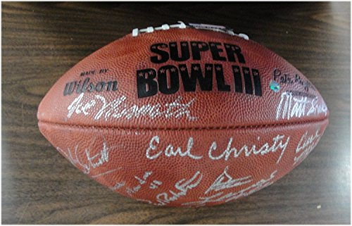 1969 NY Jets Team Signed Full Size Authentic Football Joe Namath Steiner - Steiner Jets