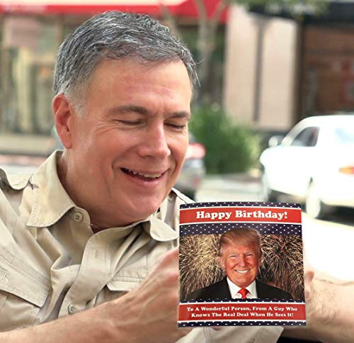 graphic regarding Donald Trump Birthday Card Printable known as Content Birthday Conversing Card Against Donald Trump - Shiny Print - Accurate Voice Greeting with Genuine Concept - for Republicans and Anyone Who Supports