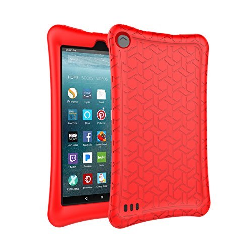 AVAWO Silicone Case for Amazon Fire 7 Tablet with Alexa (7th & 9th Generation