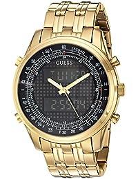 GUESS Men's U0859G1 Digital Display Quartz Gold Watch
