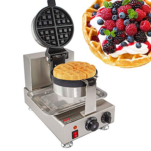 ALDKitchen Belgium waffle Nonstick Electric Egg Biscuit Roll Maker Machine Bake Machine Baker Pastry Making Baking Tools Electric Egg Roll Ice Cream Cone Maker (Classic waffle) ()