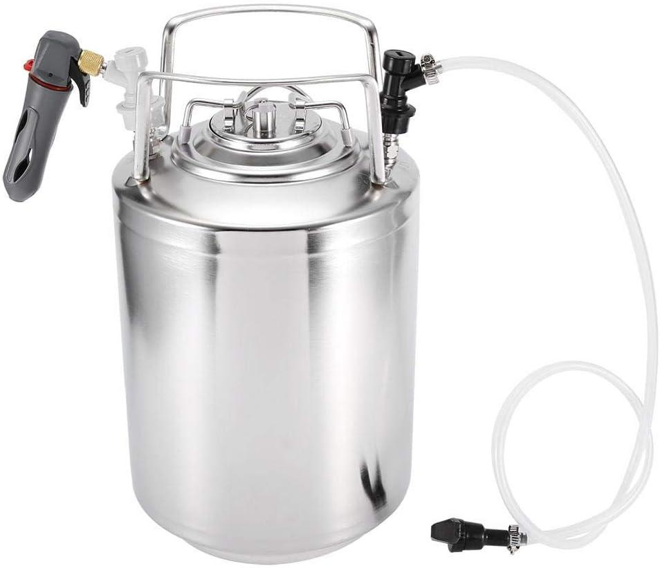 Cáñamo,Kit de dispensador de sistema de barril de cerveza, acero inoxidable presurizado Mini portátil de cerveza Kit de elaboración de vino artesanal de barril