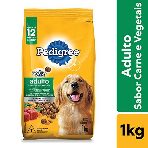 Ração Pedigree Carne e Vegetais Para Cães Adultos Raças Médias e Grandes 1 kg Pedigree para Todas Todos os tamanhos de raça Adulto - Sabor Carne 1 kg