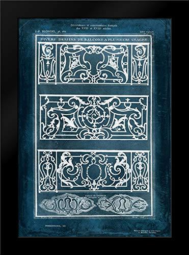 Ornamental Iron Blueprint I 13x18 Framed Art Print by Vision Studio