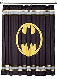 Bathroom Shower Curtains and Accessories Warner Bros Batman Logo Microfiber Shower Curtain, 72-Inch by 72-Inch