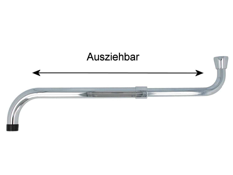 tecuro S-Auslauf ausziehbar 280-480 mm f/ür Wand-Armaturen