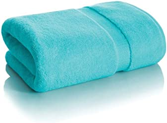 "Royal Velvet Luxury Signature Soft Solid Bath Towel - 30x54""- Perfect Aqua"