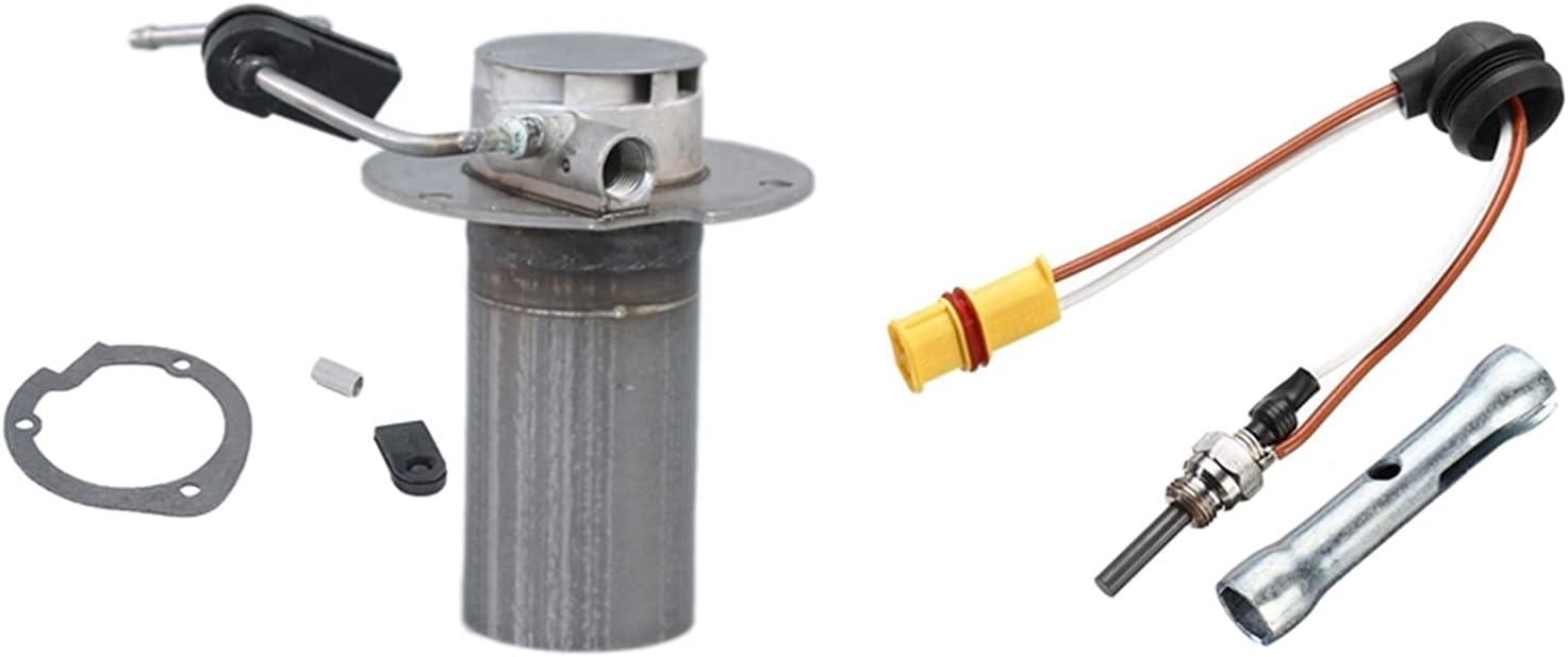Huhu 2kW Heaver Burner Insertar antorchas Cámara de combustión Ajuste para Eberspacher Airtronic D2 & 12V-24V Diesel SENTIDADE con LLANDO (Color : Silver)