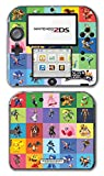 Super Smash Bros Ultimate Melee Brawl Mario Yoshi Mega Man Zelda Sonic Metroid Color Collage Video Game Vinyl Decal Skin Sticker Cover for Nintendo 2DS System Console