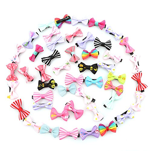 ULAKY 50Pcs Baby Sequin Boutique Bows Hair With Clips for Girls Baby (Adorable Children's Boutique)