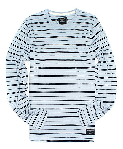 Abercrombie & Fitch Men's Long Sleeve Striped Crew for sale  Delivered anywhere in Canada