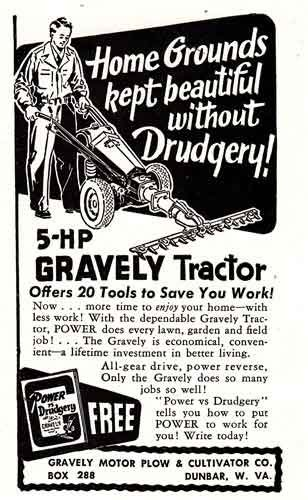 Amazon com: 1951 Gravely Tractor: 5-HP, Gravely Print Ad