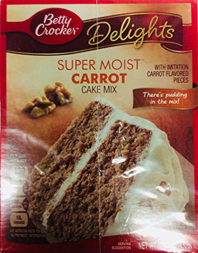 Betty Crocker Super Moist Carrot Cake Mix 15.25 Ounce (Pack of 3)