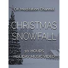 Christmas snowfall, 10 hours holiday music video