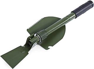 Wenquan,Pelle Portable multifonctionnelle Militaire de Pelle de Diddle de truelle avec la Poche de Transport(Color:Noir)