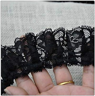 Jubaren7 5 cm de ancho doblado cinta del bordado de tela de la ...